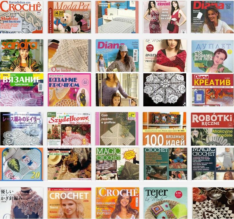 30 revistas de crochet de regalo - Tejidos al Crochet