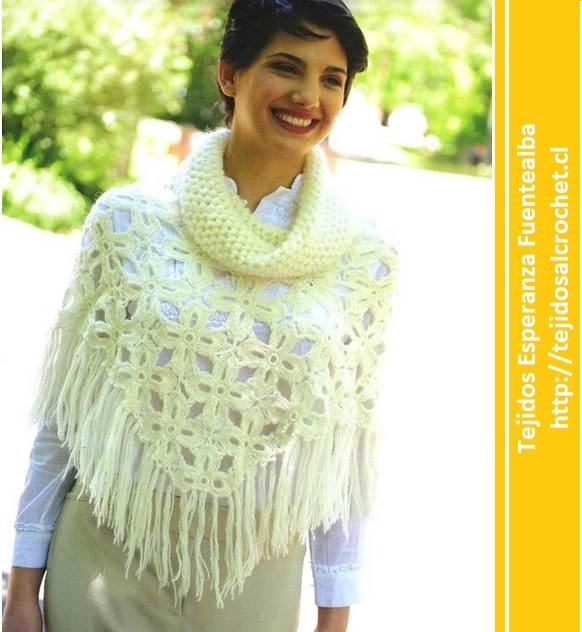 Poncho a crochet fácil. Una hermosa prenda tejida con gancho
