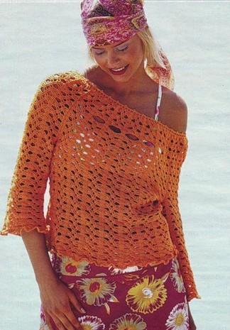 Blusas tejidas a crochet. Blusa ideal para temporada calurosa