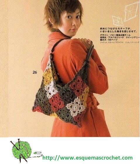 Bolsos y carteras tejidas - Esquemas Crochet