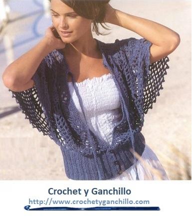 Blusas tejidas a gancho. Blusa crochet, calada con mangas anchas