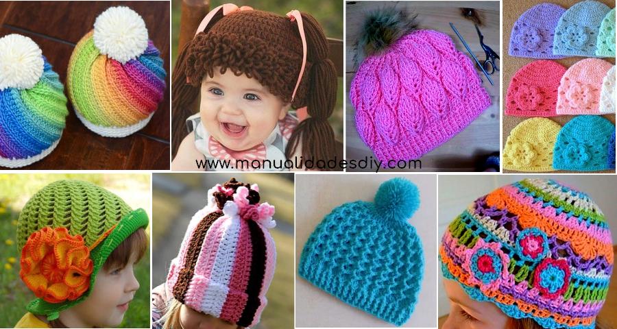 8 Maravillosos Gorros a crochet para niños y bebés - Manualidades Y DIYManualidades Y DIY