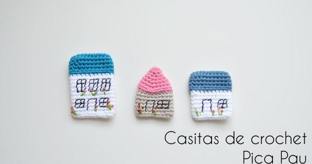 O Recuncho de Jei: Casitas de Crochet Pica Pau