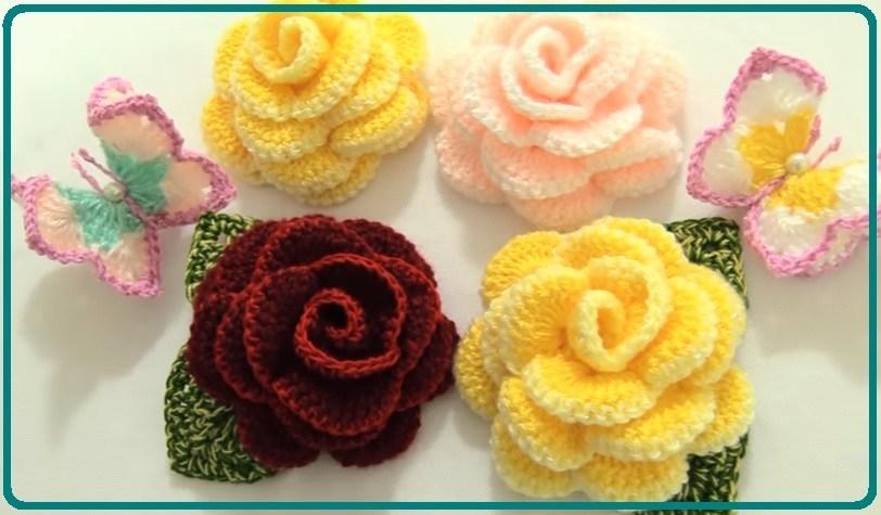 ▷ Como hacer flores a crochet - ⭐️Tejidos al Crochet⭐️