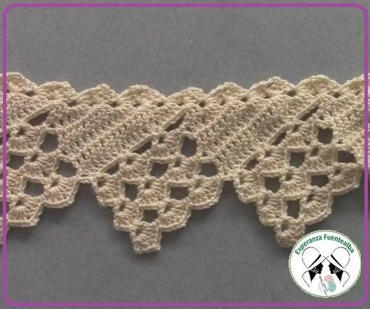 Crochet puntadas, esta es una preciosa orilla de crochet